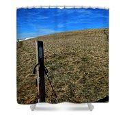 Appalachian Trail White Blaze Post Shower Curtain