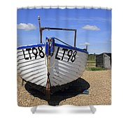 White Boat Shower Curtain