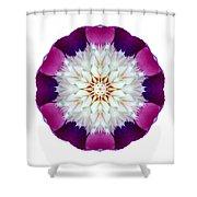 Bowl Of Beauty Peony II Flower Mandala White Shower Curtain