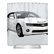 White Camaro Shower Curtain