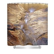 White Canyons Cascade Shower Curtain
