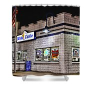 White Castle Shower Curtain