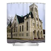 White Cathedral Shower Curtain