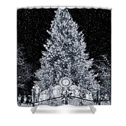 White Christmas In Texas Shower Curtain
