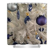 White Christmas Tree Shower Curtain