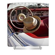 White Classic Mercedes Benz 230 Sl Shower Curtain