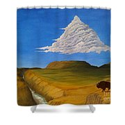 White Cloud Shower Curtain