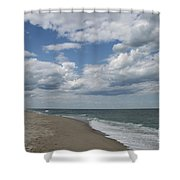 White Clouds Over The Ocean Shower Curtain