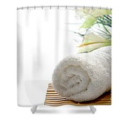 White Cotton Towel Shower Curtain