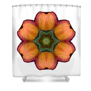 Daylily I Flower Mandala White Shower Curtain