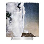 White Dome Geyser Yellowstone Np Shower Curtain