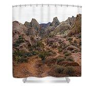 White Domes Trail Shower Curtain