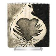 White Dove Art - Comfort - By Sharon Cummings Shower Curtain