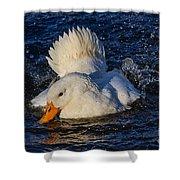 White Duck 3 Shower Curtain