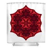 Dying Amaryllis IIi Flower Mandala White Shower Curtain