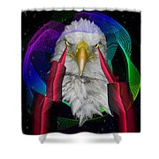 white Eagle face Shower Curtain