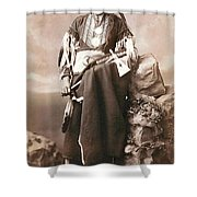 White Eagle Ponca Chief Shower Curtain