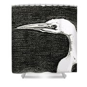 White Egret Art - The Great One - By Sharon Cummings Shower Curtain