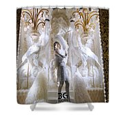 White Feathers Shower Curtain