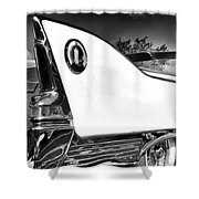 White Fin Bw Palm Springs Shower Curtain