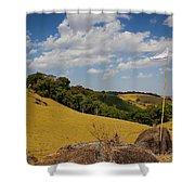 White Flag2 Shower Curtain by Fabio Giannini