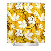 White Flowers Of Early Summer Shower Curtain