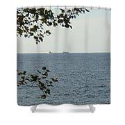 White Freighter Shower Curtain