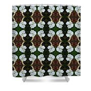 White Geranium Pattern Shower Curtain