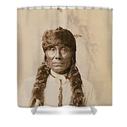 White Ghost Shower Curtain