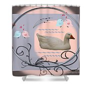 White Goose Series 1 Shower Curtain
