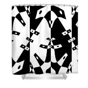 White Gravity Shower Curtain