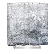 White Grungy Cement Wall Shower Curtain