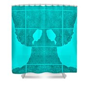 White Hands Aquamarine Shower Curtain