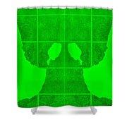 White Hands Green Shower Curtain