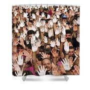 White Hands  - Manos Blancas Shower Curtain
