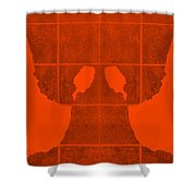 White Hands Orange Shower Curtain