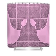 White Hands Pink Shower Curtain