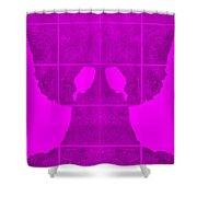 White Hands Purple Shower Curtain