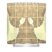 White Hands Sepia Shower Curtain