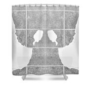 White Hands White Shower Curtain