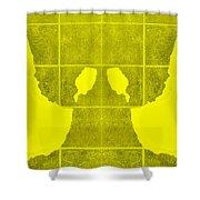 White Hands Yellow Shower Curtain
