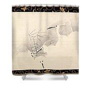 White Herons Shower Curtain