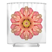 Hibiscus Rosa-sinensis I Flower Mandala White Shower Curtain