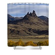 White Horse And Fall Colors   #0354 Shower Curtain