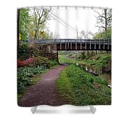 White Horse Canal Shower Curtain