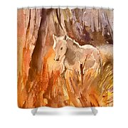 White Horse In The Camargue 01 Shower Curtain