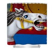 White Horse Shower Curtain