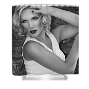 White Hot Palm Springs Shower Curtain