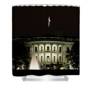 White House And Fountain Shower Curtain