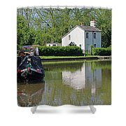 White House And House Boat Shower Curtain